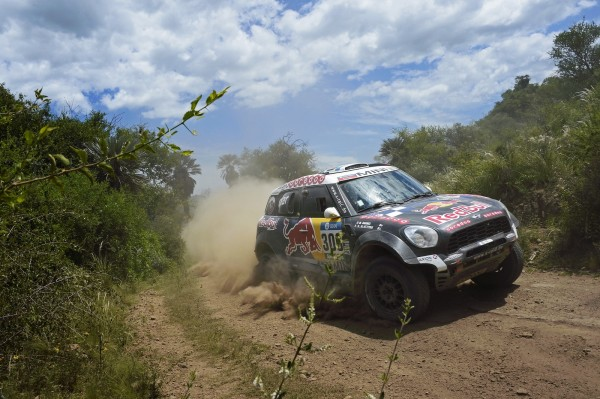 300 AL-ATTIYAH Nasser (qat) BAUMEL Matthieu (fra) MINI action during the Dakar 2016 Argentina,  Bolivia, Etape 12 / Stage 12,  San Juan - Villa Carlos Paz,  from  January 15, 2016 - Photo Eric Vargiolu / DPPI